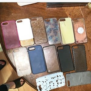 13 female and male iPhone 7+ , 8+ cases